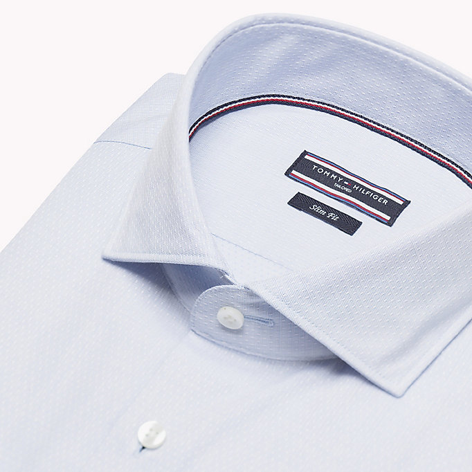 TOMMY HILFIGER Cotton Slim Fit Shirt - 612 - TOMMY HILFIGER Clothing - detail image 4