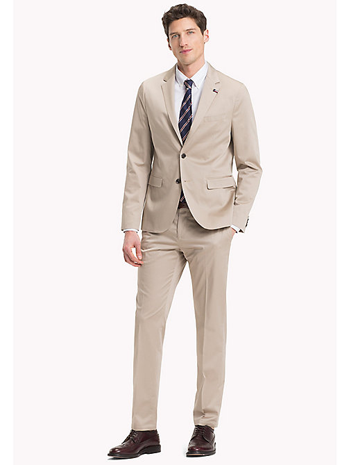 TOMMY HILFIGER Tailored Cotton Slim Fit Suit - 203 - TOMMY HILFIGER Suits - main image