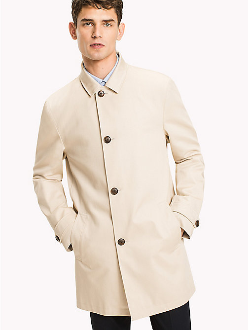 TOMMY HILFIGER Pure Cotton Tailored Coat - 201 - TOMMY HILFIGER Men - main image