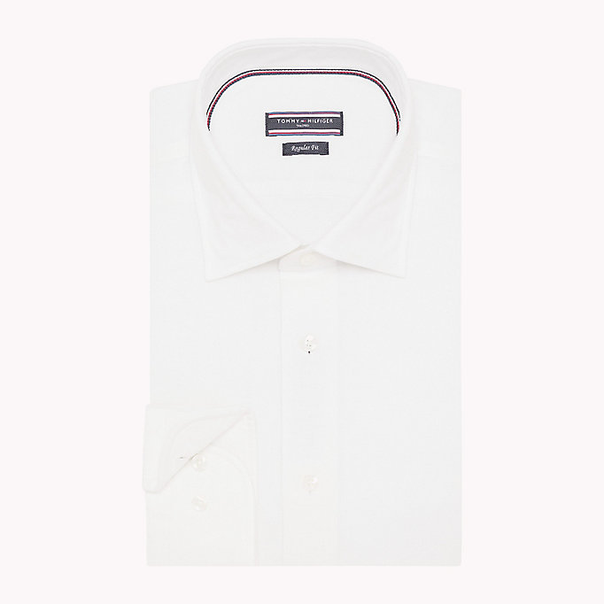 TOMMY HILFIGER Regular Fit Linen Shirt - 412 - TOMMY HILFIGER Men - detail image 1