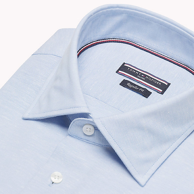 TOMMY HILFIGER Regular Fit Linen Shirt - 423 - TOMMY HILFIGER Men - detail image 4