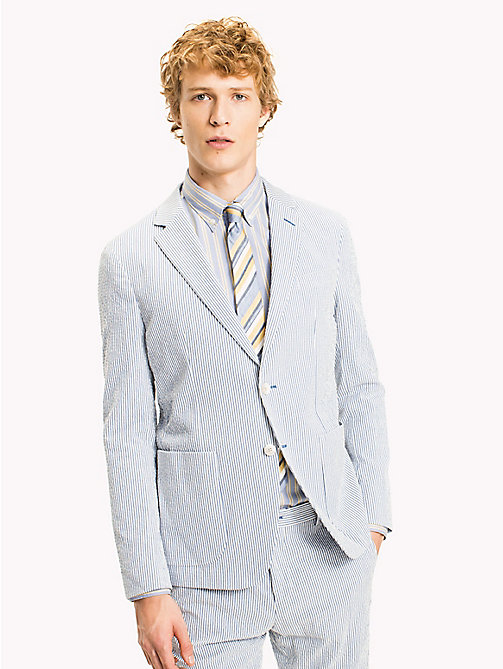 TOMMY HILFIGER Slim Fit Micro Stripe Blazer - 415 - TOMMY HILFIGER What to Wear - main image