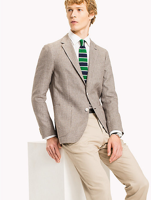 TOMMY HILFIGER Slim Fit Cotton Linen Blazer - 210 - TOMMY HILFIGER Suits & Tailored - main image