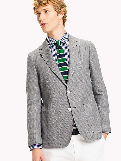 TOMMY HILFIGER Slim Fit Cotton Linen Blazer - 418 - TOMMY HILFIGER Suits & Tailored - main image