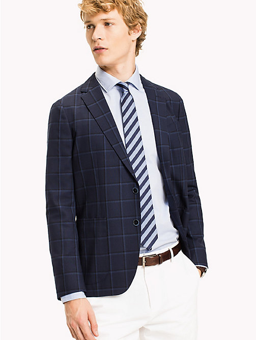 TOMMY HILFIGER Slim Fit Plaid Blazer - 427 - TOMMY HILFIGER What to Wear - main image