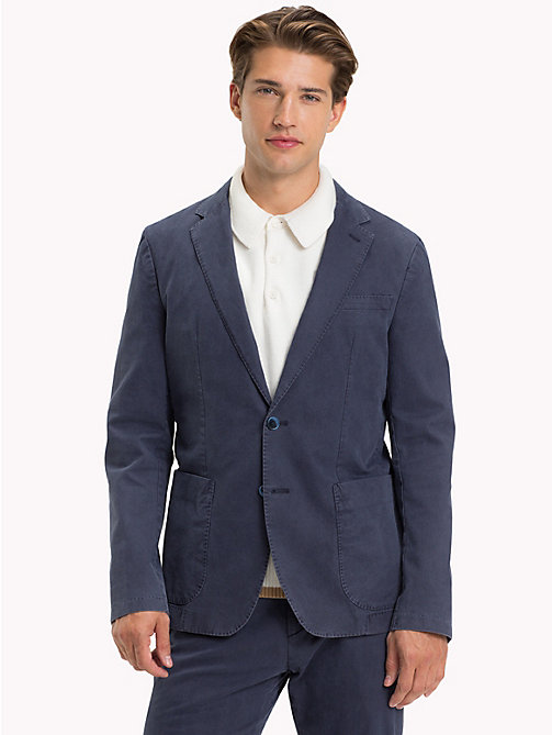 TOMMY HILFIGER Cotton Slim Fit Blazer - 425 - TOMMY HILFIGER Suits & Tailored - main image