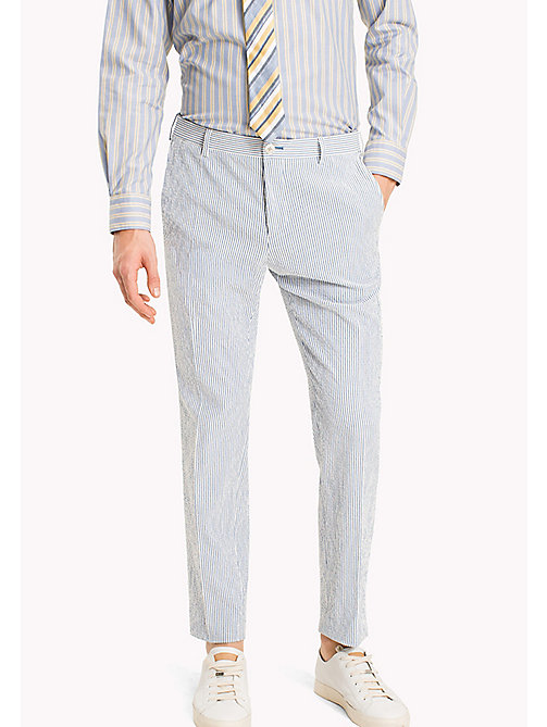 TOMMY HILFIGER Stripe Slim Fit Trousers - 415 - TOMMY HILFIGER NEW IN - main image
