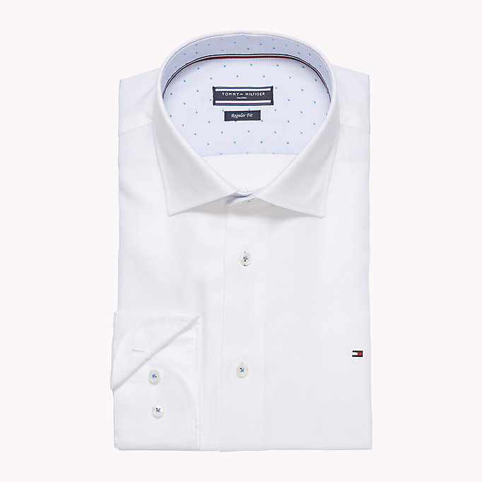 TOMMY HILFIGER Fitted Oxford Cotton Shirt - 401 - TOMMY HILFIGER Clothing - detail image 1