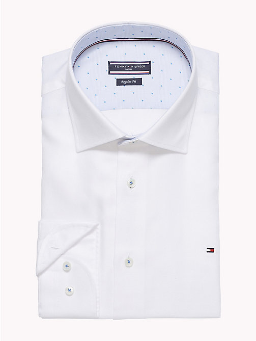 TOMMY HILFIGER Fitted Oxford Cotton Shirt - 100 - TOMMY HILFIGER Formal Shirts - detail image 1