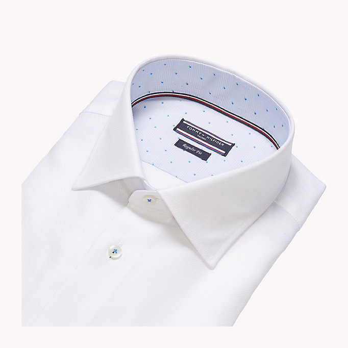 TOMMY HILFIGER Fitted Oxford Cotton Shirt - 401 - TOMMY HILFIGER Clothing - detail image 4
