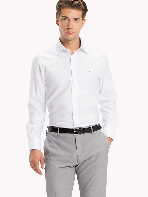 TOMMY HILFIGER Fitted Oxford Cotton Shirt - 100 - TOMMY HILFIGER Formal Shirts - main image