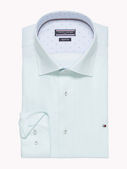 TOMMY HILFIGER Fitted Oxford Cotton Shirt - 401 - TOMMY HILFIGER Formal Shirts - detail image 1