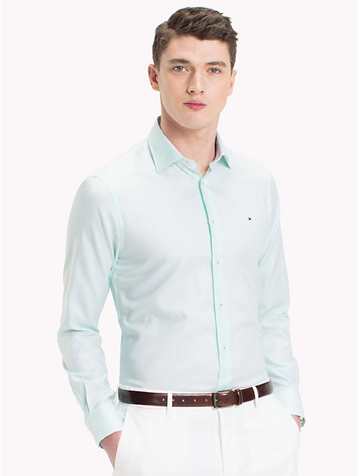 TOMMY HILFIGER Fitted Oxford Cotton Shirt - 401 - TOMMY HILFIGER Formal Shirts - main image