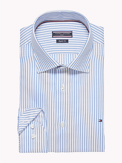 TOMMY HILFIGER Gestreiftes Oxford-Hemd in figurbetonter Passform - 417 -  Businesshemden - main image 1