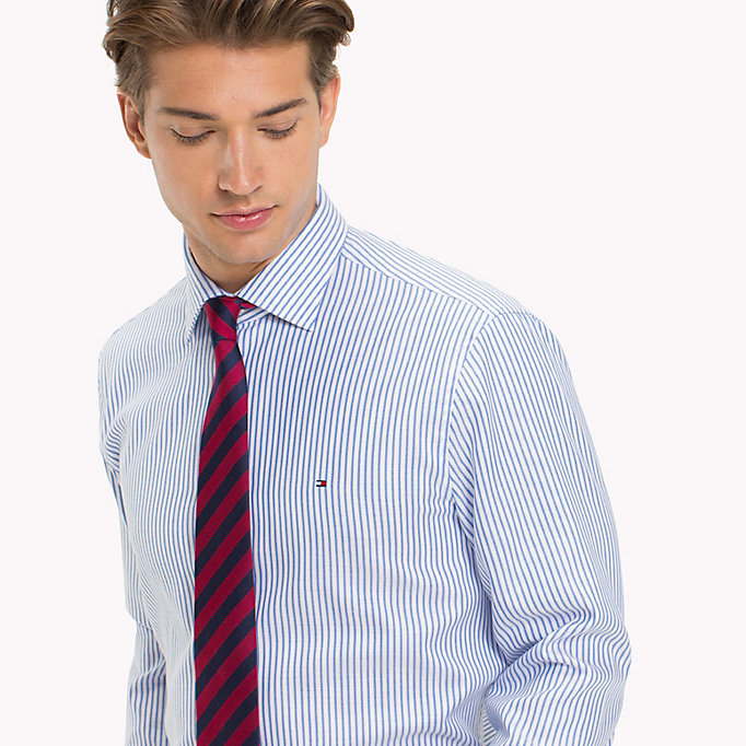 TOMMY HILFIGER Stripe Oxford Fitted Shirt - 601 - TOMMY HILFIGER Men - detail image 3