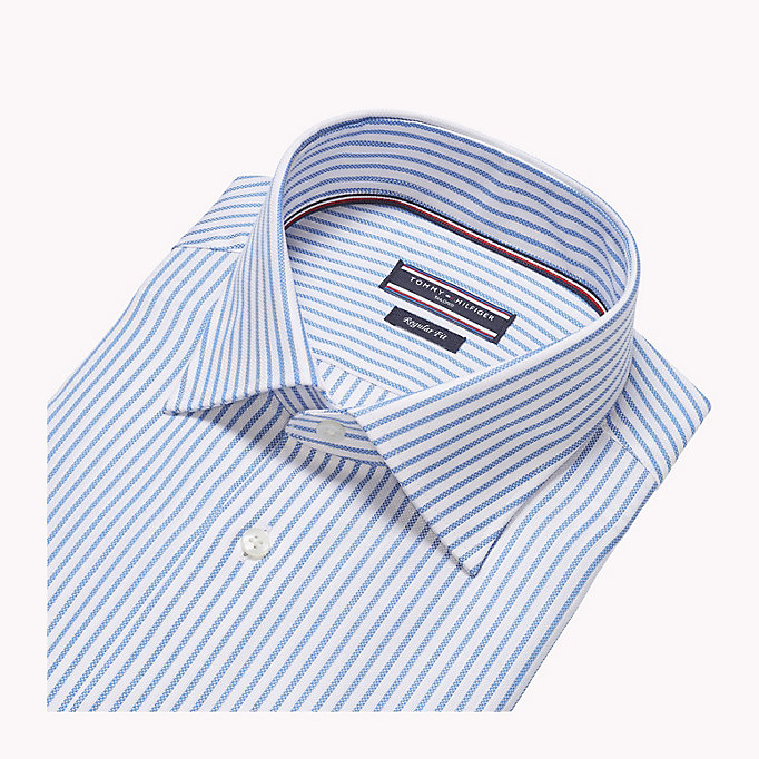 TOMMY HILFIGER Stripe Oxford Fitted Shirt - 601 - TOMMY HILFIGER Men - detail image 4