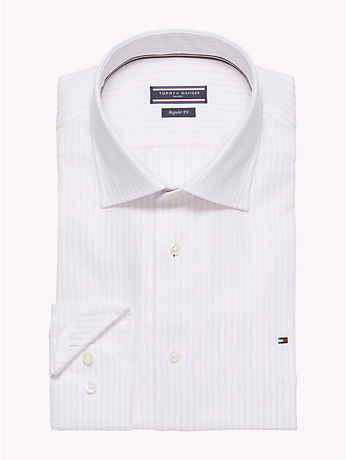 TOMMY HILFIGER Gestreiftes Oxford-Hemd in figurbetonter Passform - 601 - TOMMY HILFIGER Businesshemden - main image 1