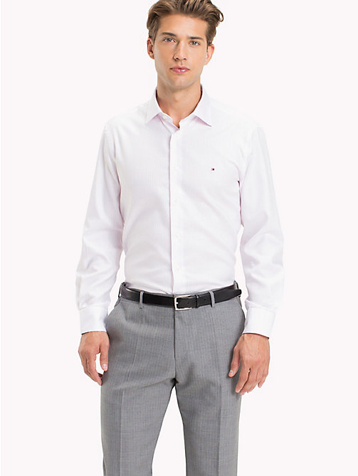 TOMMY HILFIGER Gestreiftes Oxford-Hemd in figurbetonter Passform - 601 - TOMMY HILFIGER Businesshemden - main image