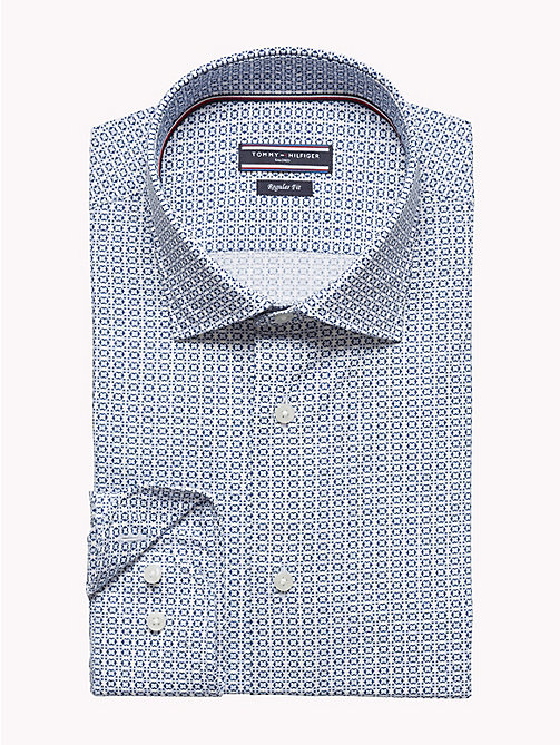 TOMMY HILFIGER Geometric Print Fitted Shirt - 413 - TOMMY HILFIGER Suits & Tailored - detail image 1