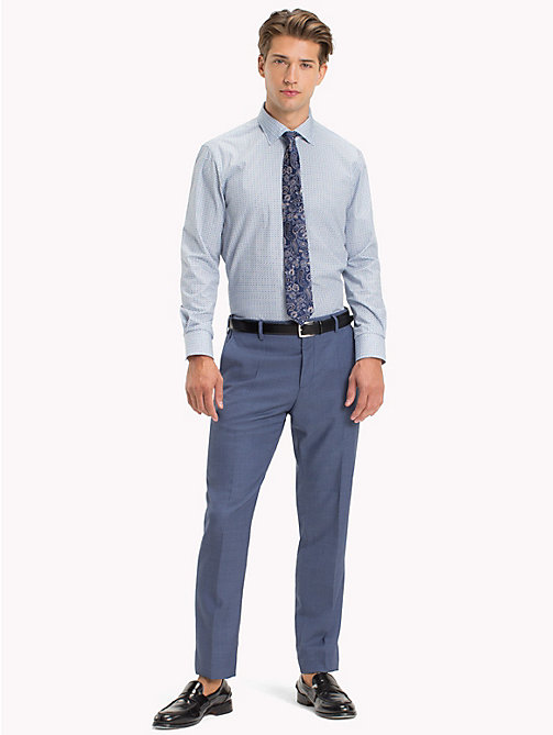 TOMMY HILFIGER Geometric Print Fitted Shirt - 413 - TOMMY HILFIGER Suits & Tailored - main image