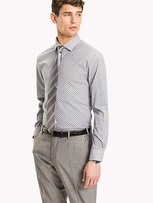 TOMMY HILFIGER Slim Fit Shirt mit Print - 427 - TOMMY HILFIGER Anzüge & Tailored - main image