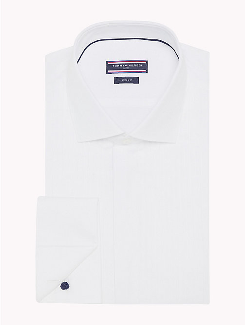 TOMMY HILFIGER Slim Fit Tuxedo Shirt - 100 - TOMMY HILFIGER What to Wear - detail image 1