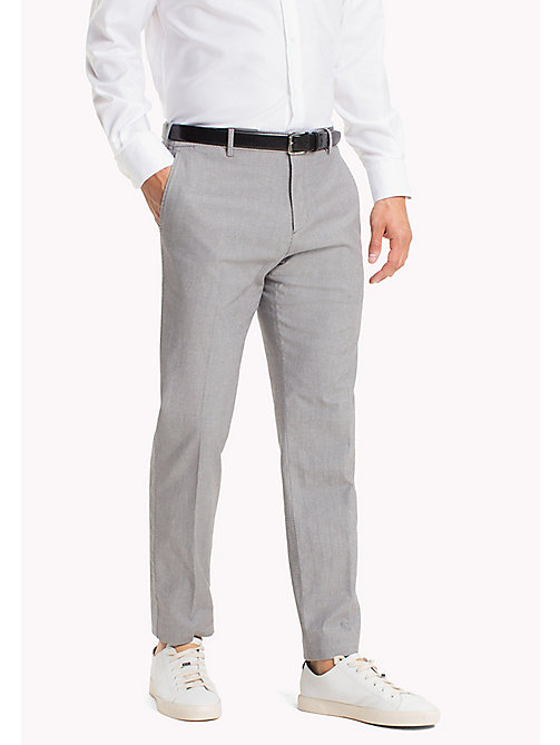 TOMMY HILFIGER Diamond Weave Slim Fit Trousers - 015 - TOMMY HILFIGER Trousers - main image