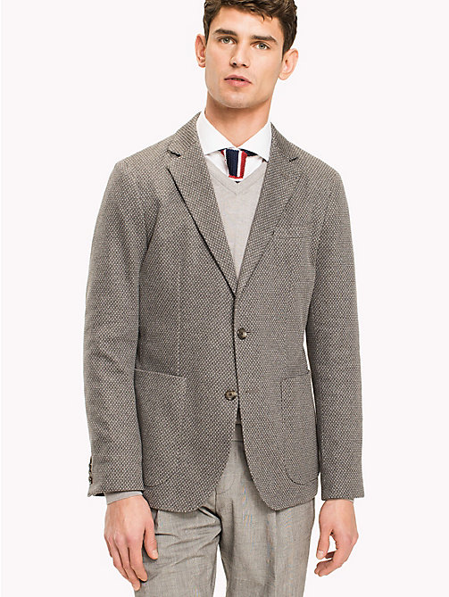 TOMMY HILFIGER Slim Fit Cotton Blend Blazer - 017 - TOMMY HILFIGER Blazers - main image