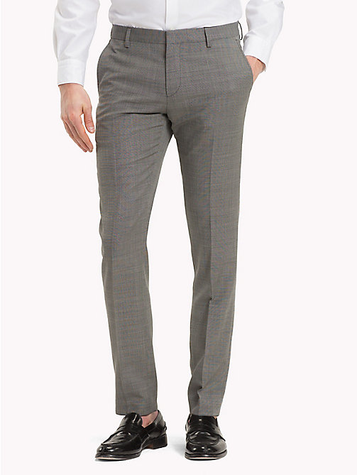 TOMMY HILFIGER Virgin Wool Extra Slim Fit Trousers - 025 - TOMMY HILFIGER Clothing - main image