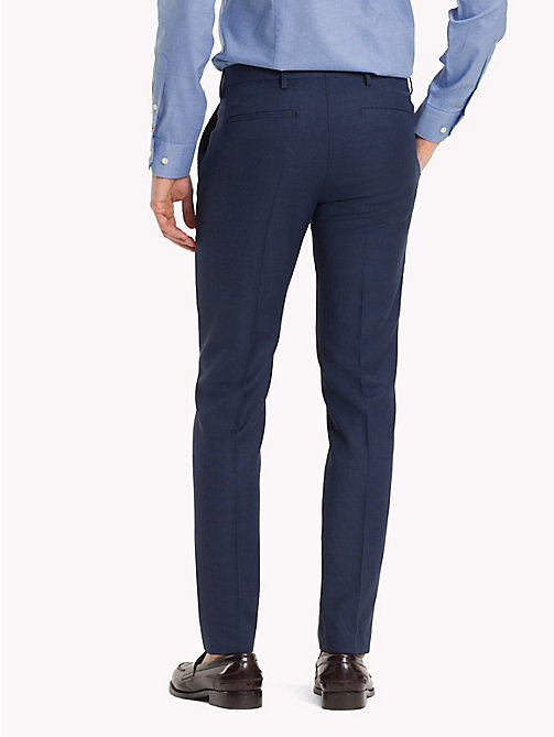 TOMMY HILFIGER Virgin Wool Extra Slim Fit Trousers - 425 - TOMMY HILFIGER Clothing - detail image 1