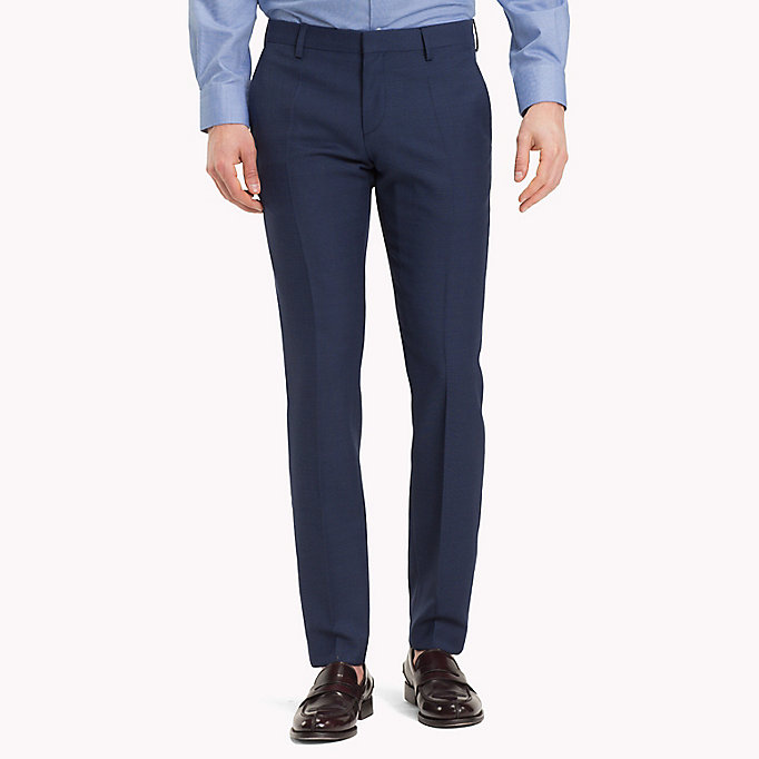TOMMY HILFIGER Virgin Wool Extra Slim Fit Trousers - 025 - TOMMY HILFIGER Men - main image