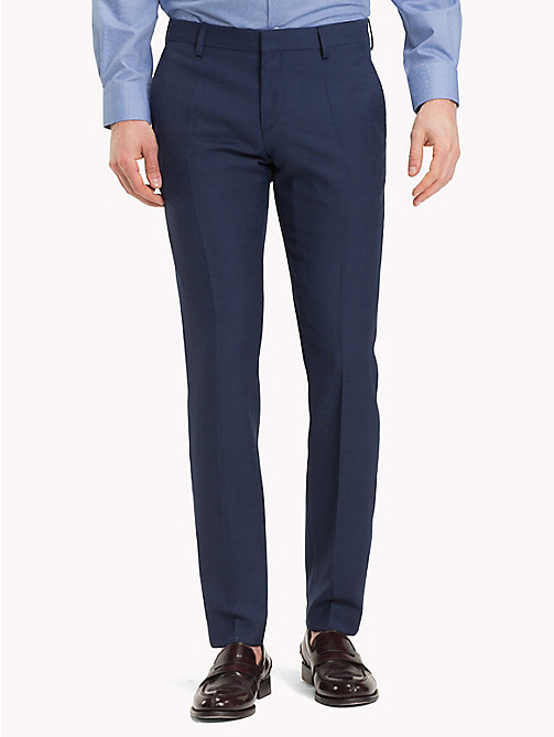 TOMMY HILFIGER Virgin Wool Extra Slim Fit Trousers - 425 - TOMMY HILFIGER Clothing - main image