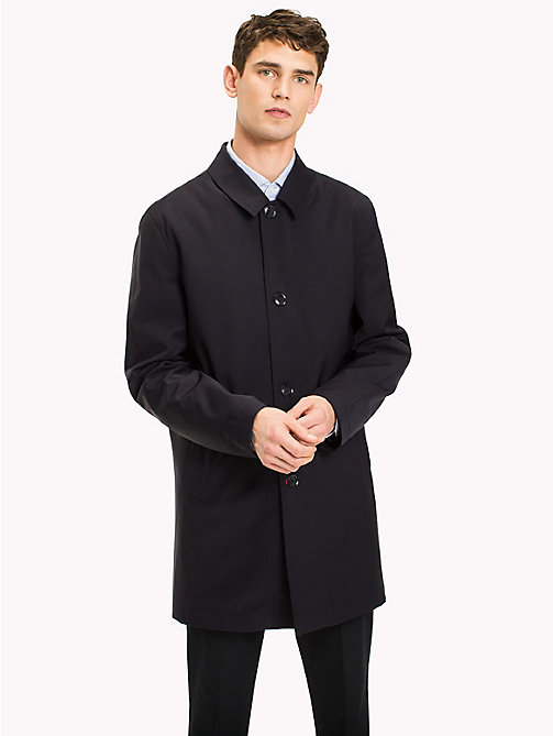TOMMY HILFIGER Wool Blend Mac Coat - 425 - TOMMY HILFIGER Clothing - main image