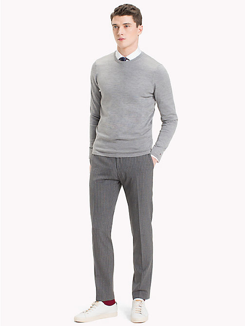 TOMMY HILFIGER Crew Neck Jumper - DRIZZLE HEATHER - TOMMY HILFIGER Jumpers - main image