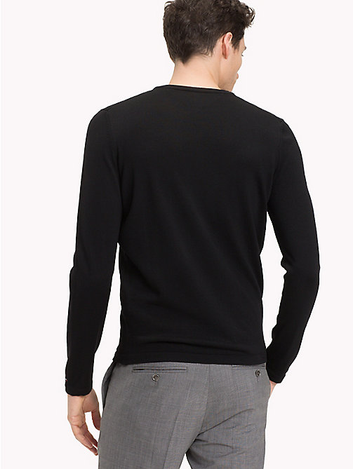 TOMMY HILFIGER Crew Neck Jumper - FLAG BLACK - TOMMY HILFIGER Clothing - detail image 1
