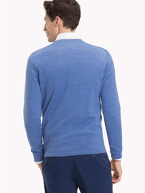 TOMMY HILFIGER Crew Neck Jumper - BRIGHT COBALT HEATHER - TOMMY HILFIGER Clothing - detail image 1