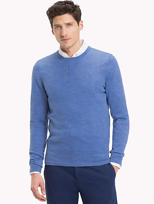 TOMMY HILFIGER Crew Neck Jumper - BRIGHT COBALT HEATHER - TOMMY HILFIGER Sweatshirts & Knitwear - main image
