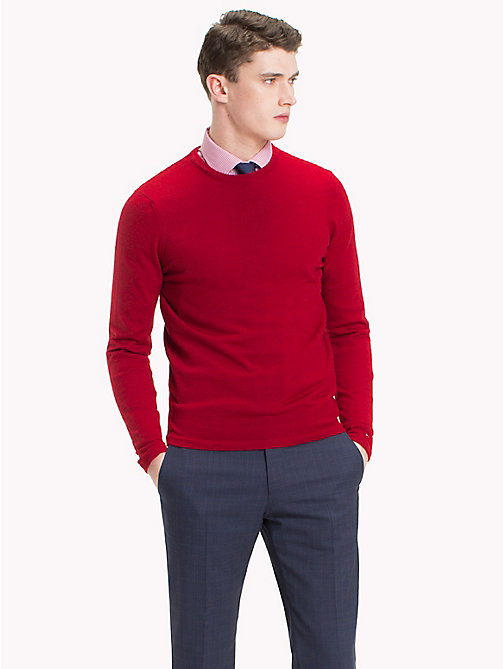TOMMY HILFIGER Crew Neck Jumper - SCOOTER HEATHER - TOMMY HILFIGER Jumpers - main image
