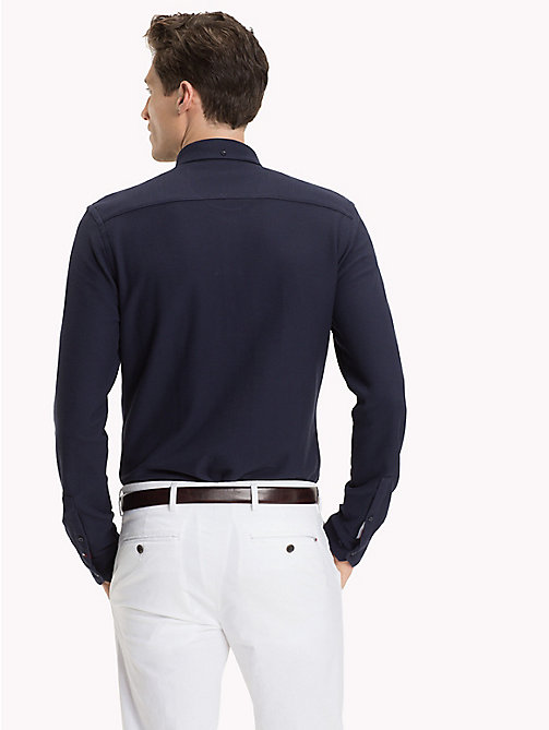 TOMMY HILFIGER Button Down Long Sleeve Polo Shirt - NAVY BLAZER - TOMMY HILFIGER Polo Shirts - detail image 1