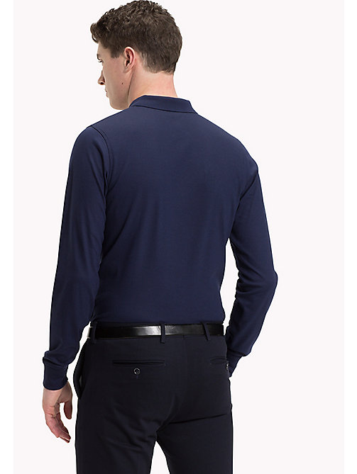 TOMMY HILFIGER Long Sleeve Polo Shirt - PEACOAT - TOMMY HILFIGER Polo Shirts - detail image 1