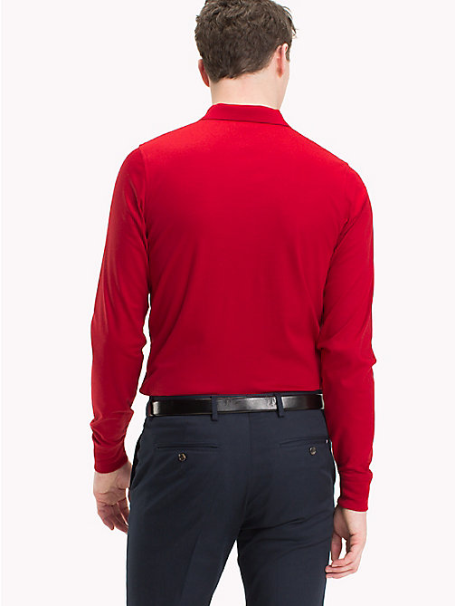 TOMMY HILFIGER Long Sleeve Polo Shirt - TOMMY RED - TOMMY HILFIGER TOMMY'S PADDOCK - detail image 1