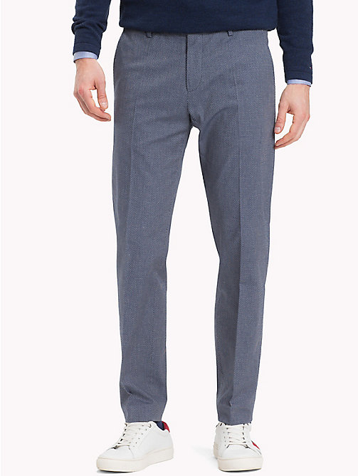 TOMMY HILFIGER Diamond Weave Trousers - 422 - TOMMY HILFIGER Formal Trousers - main image