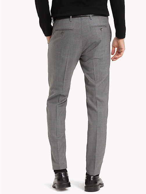 TOMMY HILFIGER Tapered Wool Trousers - 016 - TOMMY HILFIGER Trousers & Shorts - detail image 1