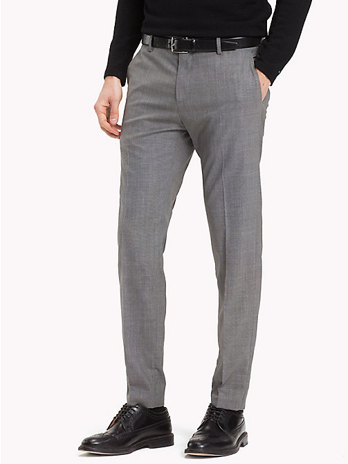 TOMMY HILFIGER Tapered Wool Trousers - 016 - TOMMY HILFIGER Trousers - main image