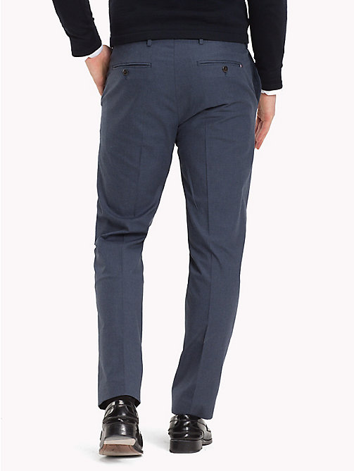 TOMMY HILFIGER Slim Fit Tapered Trousers - 422 - TOMMY HILFIGER Formal Trousers - detail image 1