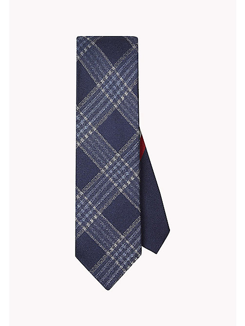 TOMMY HILFIGER Pure Silk Woven Check Tie - 429 - TOMMY HILFIGER Bags & Accessories - main image