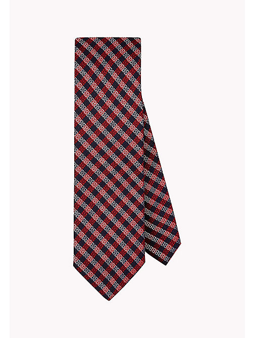TOMMY HILFIGER Pure Silk Woven Check Tie - 616 - TOMMY HILFIGER Ties & Pocket Squares - main image