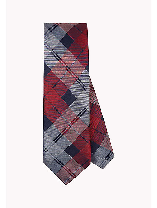 TOMMY HILFIGER Pure Silk Large Check Tie - 616 - TOMMY HILFIGER Ties & Pocket Squares - main image