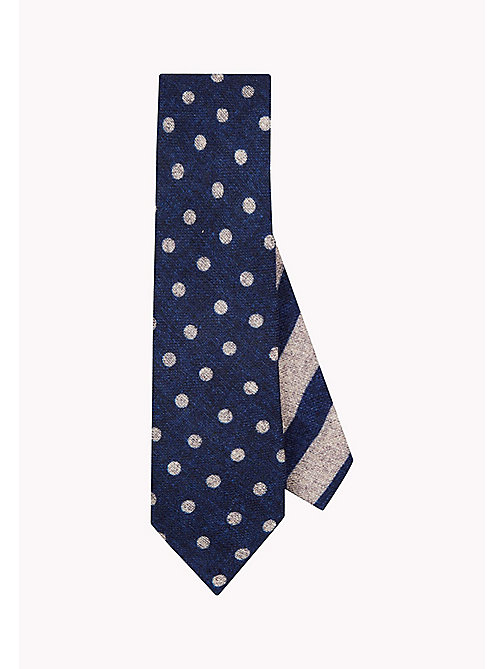 TOMMY HILFIGER Reversible Wool Dot Print Tie - 400 - TOMMY HILFIGER Ties & Pocket Squares - main image