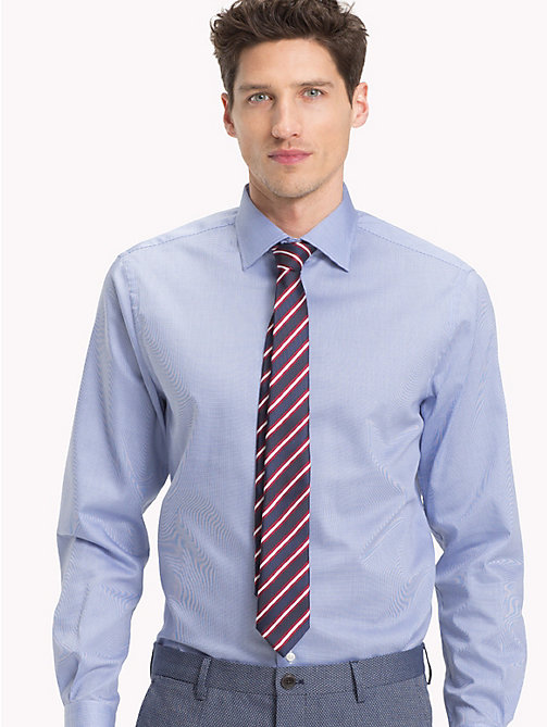TOMMY HILFIGER Tencel Cotton Fine Check Shirt - 416 - TOMMY HILFIGER Formal Shirts - detail image 1